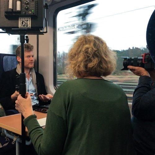 interview im Zug
